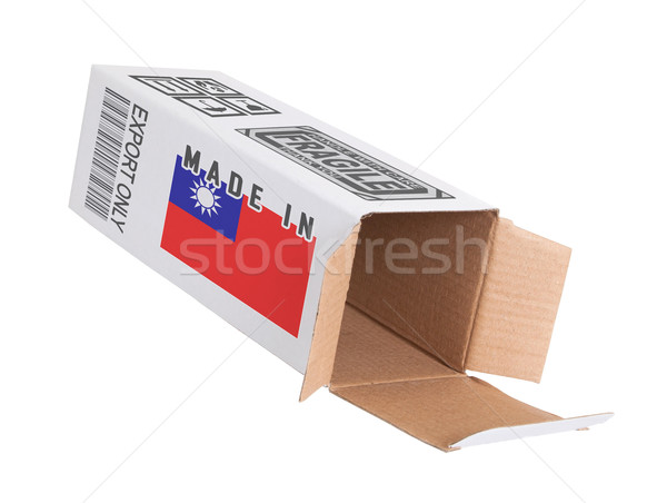 Exportar producto Taiwán papel cuadro Foto stock © michaklootwijk