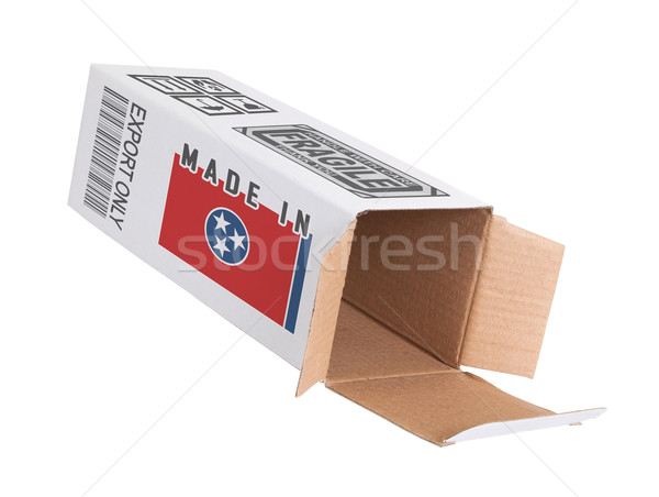 Exporter produit Tennessee papier boîte Photo stock © michaklootwijk