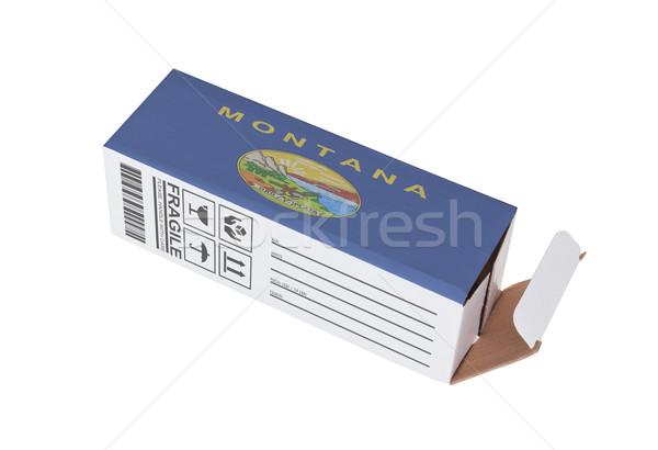 Exporter produit Montana papier boîte Photo stock © michaklootwijk