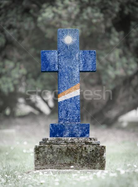 墓石 墓地 島々 古い 風化した フラグ ストックフォト © michaklootwijk