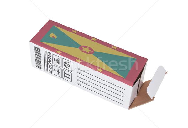 Exportar produto Granada papel caixa Foto stock © michaklootwijk