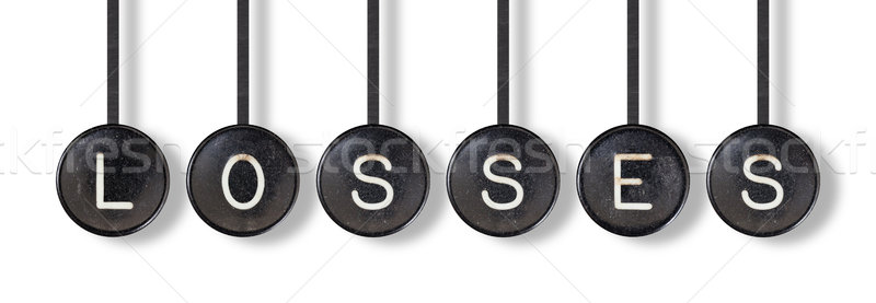 Typewriter buttons, isolated - Losses Stock photo © michaklootwijk