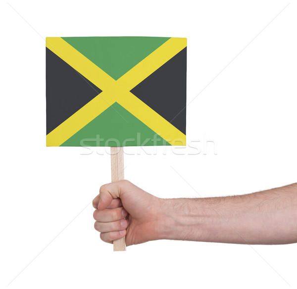 Hand holding small card - Flag of Jamaica Stock photo © michaklootwijk