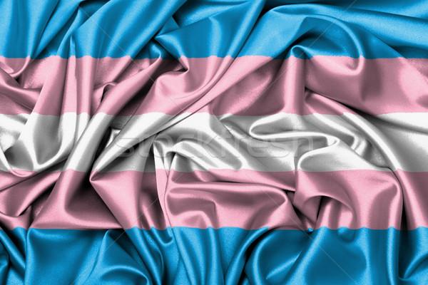 Satin flag - flag of the Trans Pride Stock photo © michaklootwijk