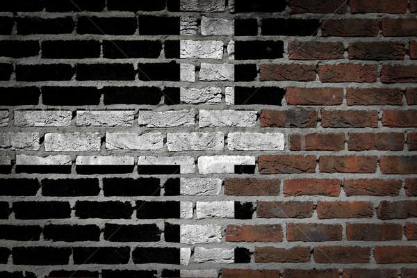 Buio muro di mattoni cornwall texture bandiera verniciato Foto d'archivio © michaklootwijk