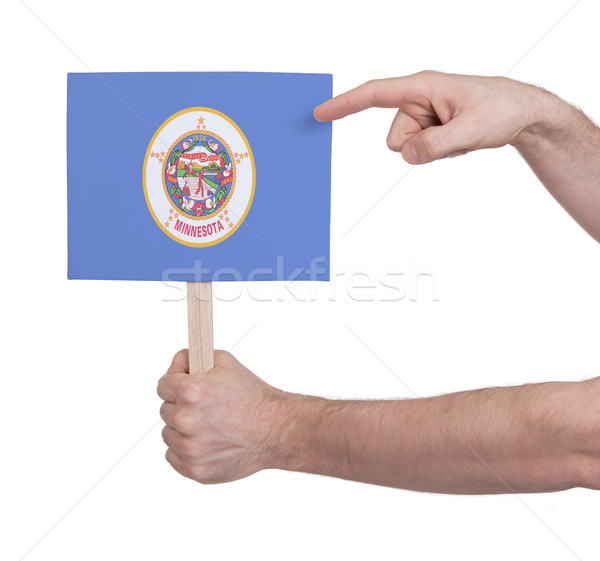 Mão pequeno cartão bandeira Minnesota Foto stock © michaklootwijk