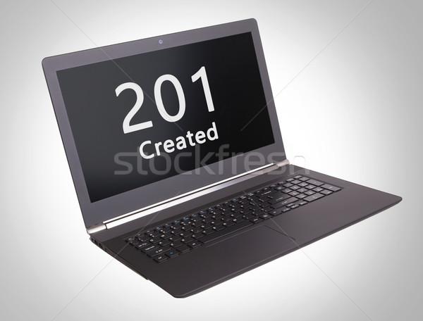 Http estado código portátil Screen ordenador Foto stock © michaklootwijk