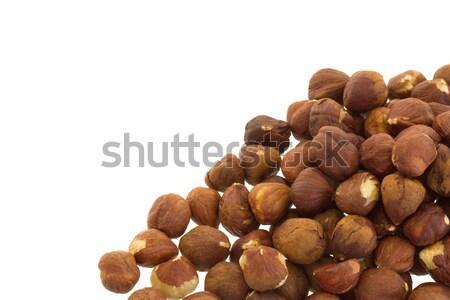 Heap of old hazelnuts Stock photo © michaklootwijk