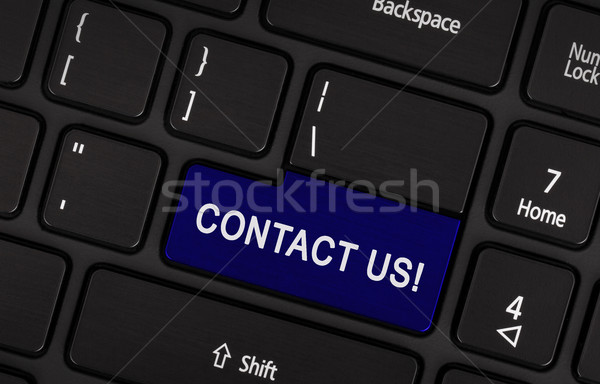 Website template section key with Contact us text Stock photo © michaklootwijk