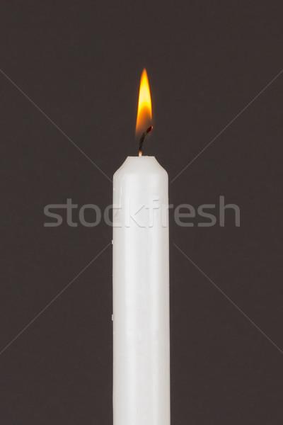 сжигание белый свечу изолированный черный искусства Сток-фото © michaklootwijk