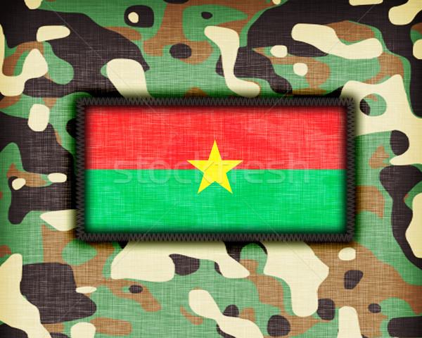 Uniforme Burkina bandeira textura abstrato Foto stock © michaklootwijk