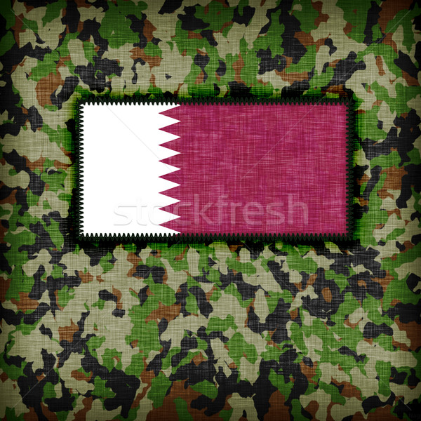 Amy camouflage uniform, Qatar Stock photo © michaklootwijk