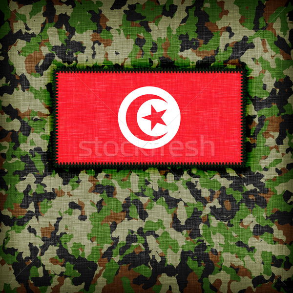 üniforma Tunus bayrak soyut yeşil Stok fotoğraf © michaklootwijk