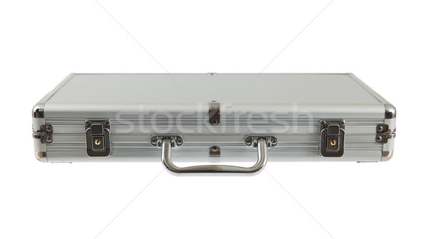 Silver metal briefcase isolated Stock photo © michaklootwijk