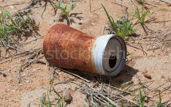 Old rusty beverage can Stock photo © michaklootwijk