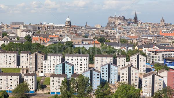Panoráma Edinburgh modern ódivatú város épületek Stock fotó © michaklootwijk