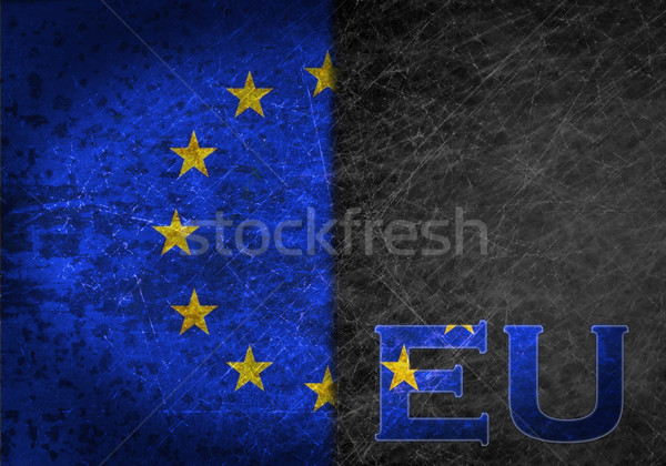 Stockfoto: Oude · roestige · metaal · teken · vlag · land