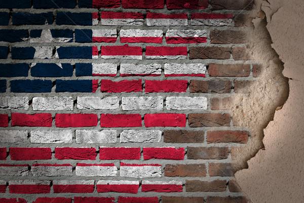 Dark brick wall with plaster - Liberia Stock photo © michaklootwijk