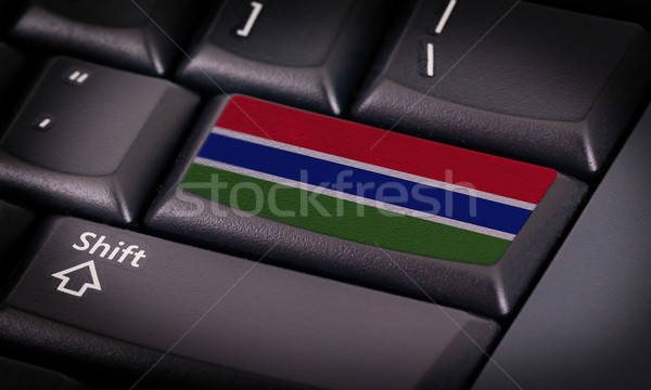 Flag on keyboard Stock photo © michaklootwijk