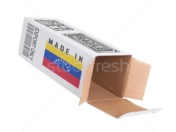 экспорт продукт Венесуэла бумаги окна Сток-фото © michaklootwijk