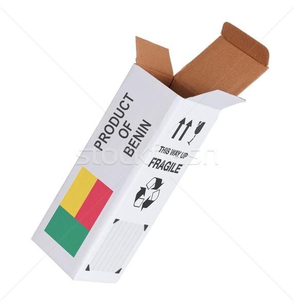 Export termék Benin kinyitott papír doboz Stock fotó © michaklootwijk
