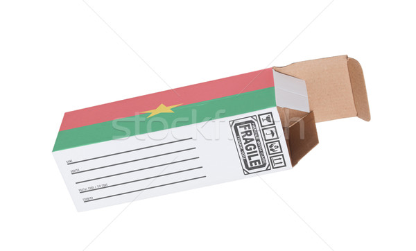 エクスポート 製品 ブルキナファソ 紙 ボックス ストックフォト © michaklootwijk