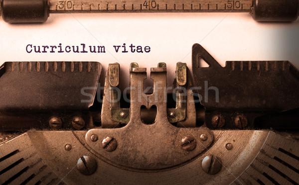 Vintage velho máquina de escrever tecnologia carta Foto stock © michaklootwijk