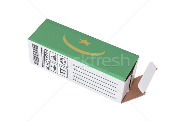 Concept of export - Product of Mauritania Stock photo © michaklootwijk