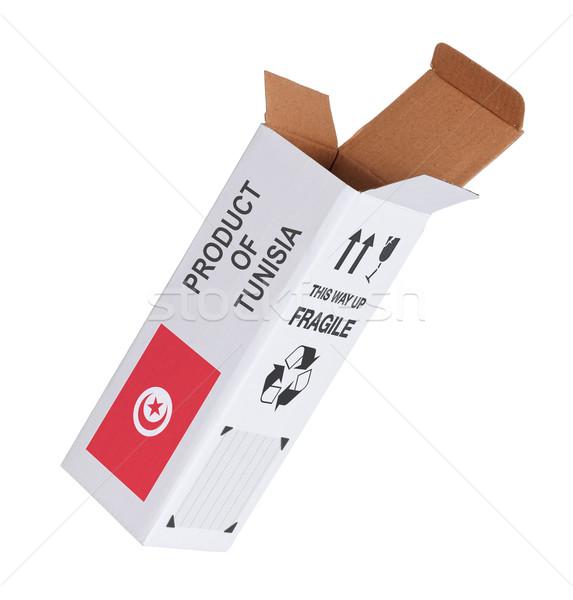 Exportar producto Túnez papel cuadro Foto stock © michaklootwijk
