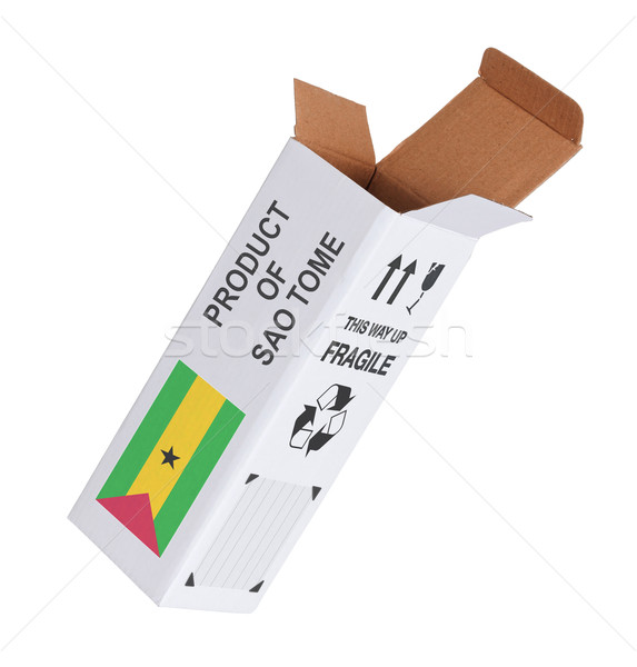 Concept of export - Product of Sao Tome and Principe Stock photo © michaklootwijk