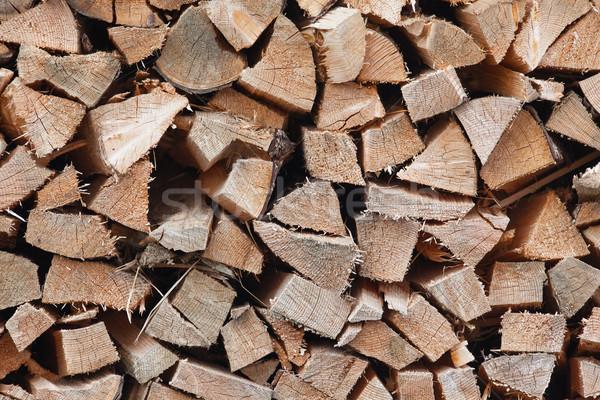 Drogen gehakt brandhout klaar winter textuur Stockfoto © michaklootwijk