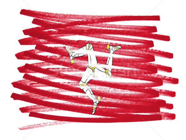 Flag illustration - Isle of Man Stock photo © michaklootwijk