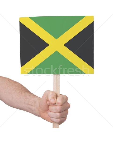El küçük kart bayrak Jamaika Stok fotoğraf © michaklootwijk