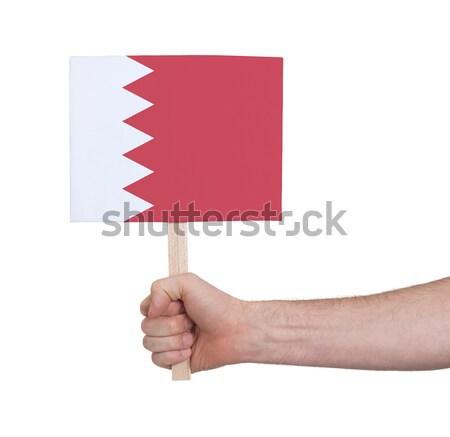 El küçük kart bayrak Katar Stok fotoğraf © michaklootwijk