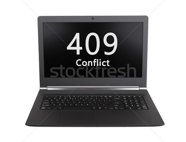 Http Код конфликт ноутбука экране Сток-фото © michaklootwijk