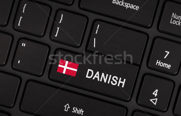 кнопки флаг Дания язык обучения Сток-фото © michaklootwijk