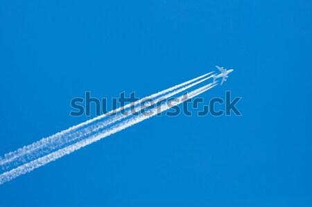Plane in blue sky Stock photo © michaklootwijk