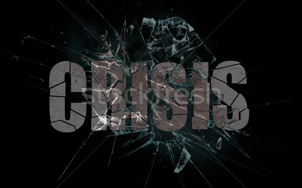 Concept of violence or crash, business Stock photo © michaklootwijk