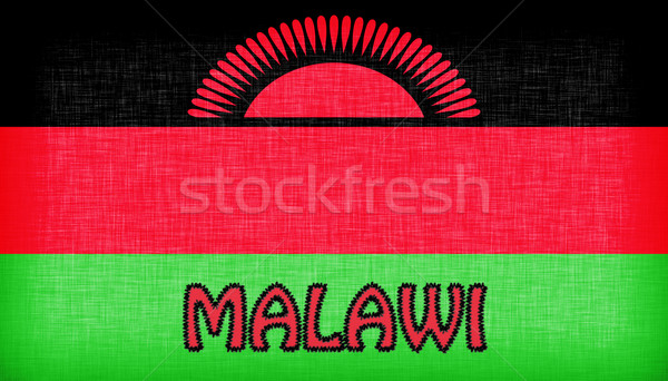 Flag of Malawi stitched with letters Stock photo © michaklootwijk