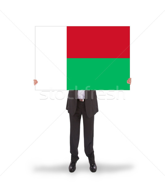 Foto d'archivio: Imprenditore · grande · carta · bandiera · Madagascar