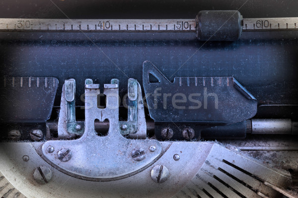Close up of a dirty vintage typewriter Stock photo © michaklootwijk