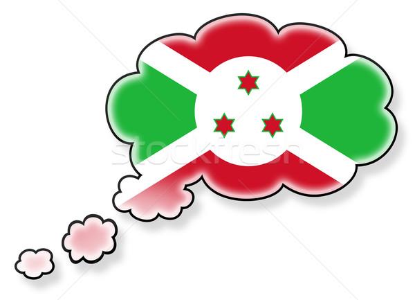 Bandeira nuvem isolado branco Burundi arte Foto stock © michaklootwijk