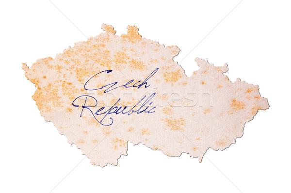 старой бумаги почерк Чешская республика синий чернила образование Сток-фото © michaklootwijk
