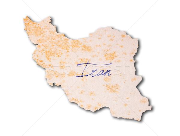 Starego papieru pismo Iran niebieski atramentu edukacji Zdjęcia stock © michaklootwijk