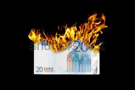 Vlag brandend Seychellen oorlog crisis brand Stockfoto © michaklootwijk