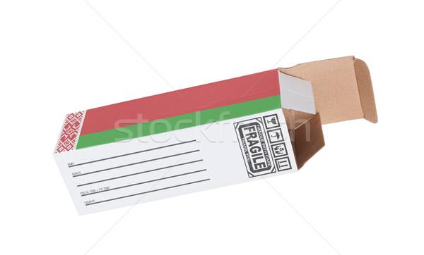 Exporter produit Belarus papier boîte Photo stock © michaklootwijk