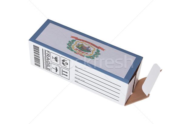 Exporter produit Virginie-Occidentale papier boîte Photo stock © michaklootwijk