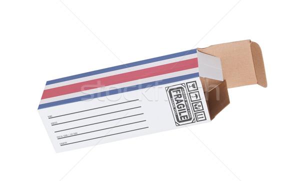 Exportar produto Costa Rica papel caixa Foto stock © michaklootwijk