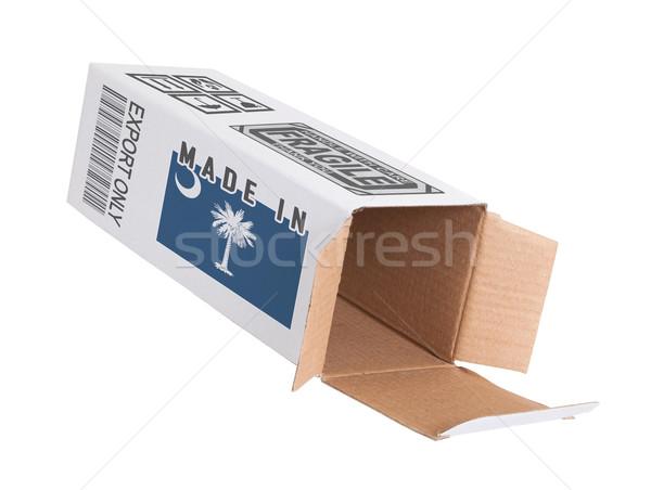 エクスポート 製品 サウスカロライナ州 紙 ボックス ストックフォト © michaklootwijk