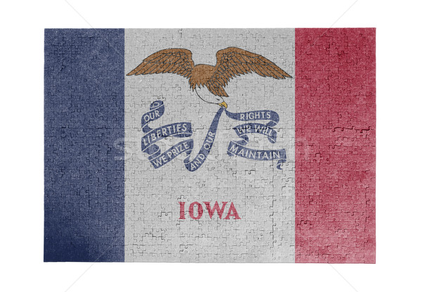 большой 1000 частей Айова флаг Сток-фото © michaklootwijk